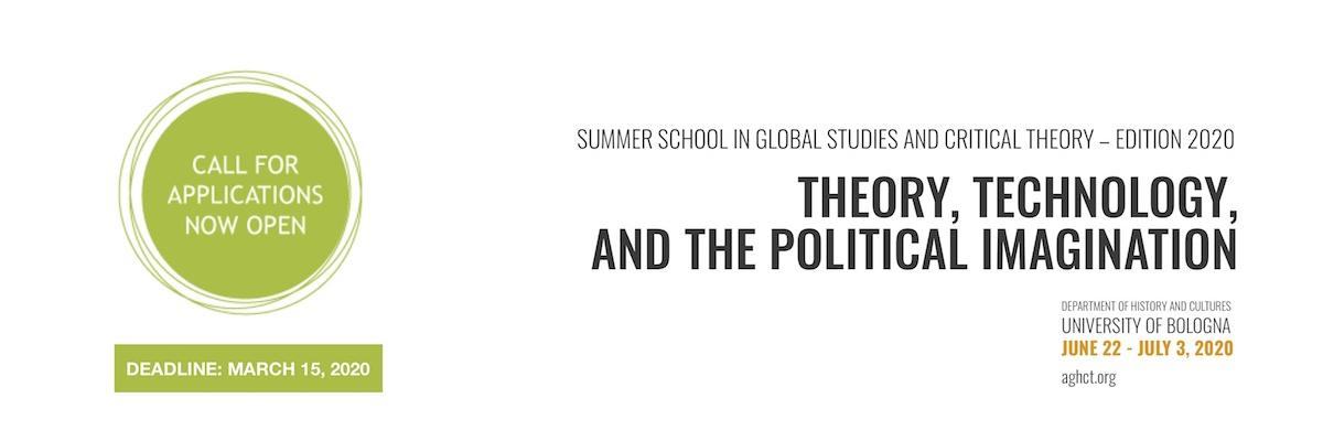 The Summer School in Global Studies and Critical Theory - Edition 2020